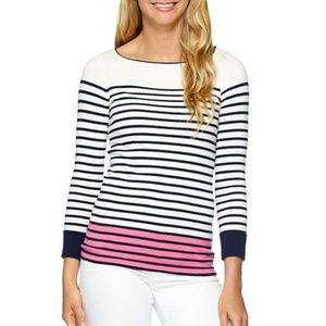 LILLY PULITZER Maria Striped Boat Neck Sweater